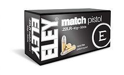 ELEY match pistol .22LR ammunition