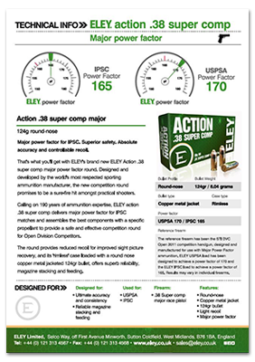 Download the .38 action super comp major technical data sheet
