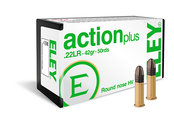 ELEY action plus 50 round pack - The world's most accurate .22LR ammunition