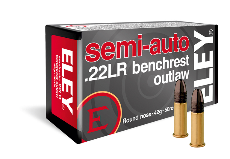 ELEY semi-auto benchrest outlaw 22lr ammunition - The world's most accurate .22LR pistol ammunition